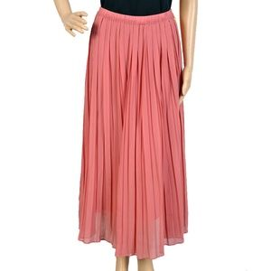 Hayden Los Angeles Pleated Dusty Rose Midi Skirt